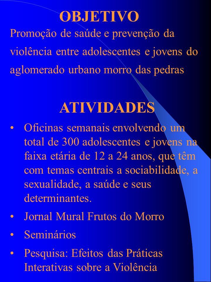 OBJETIVO ATIVIDADES Promoção de saúde e prevenção da