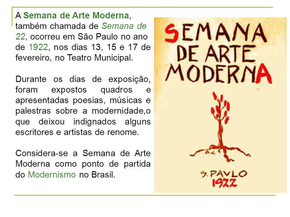 A Semana de Arte Moderna,