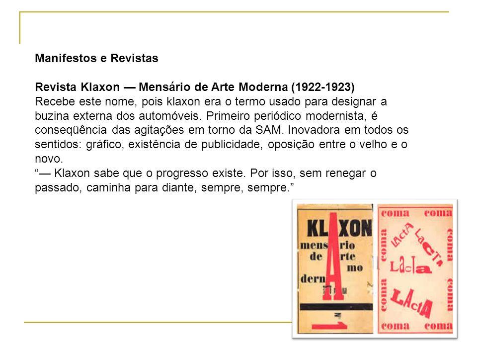 Manifestos e Revistas Revista Klaxon — Mensário de Arte Moderna (1922-1923)