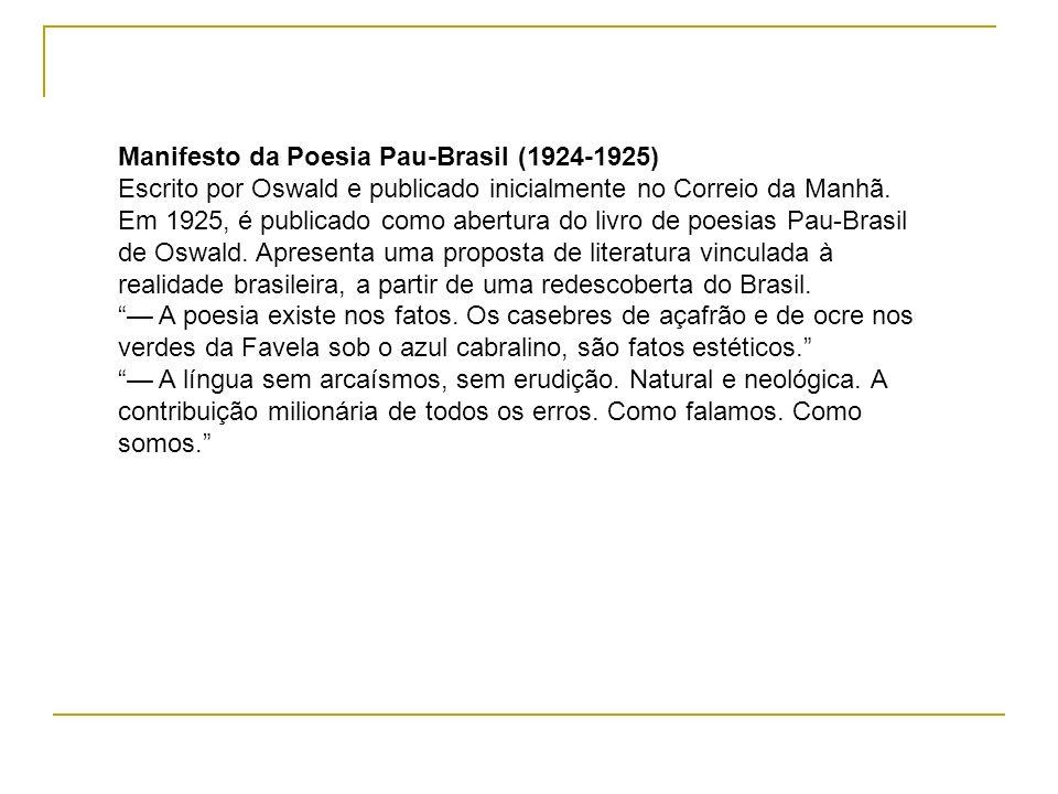 Manifesto da Poesia Pau-Brasil (1924-1925)