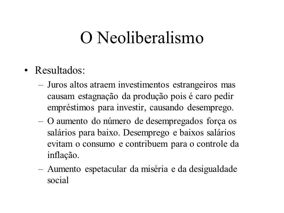O Neoliberalismo Resultados: