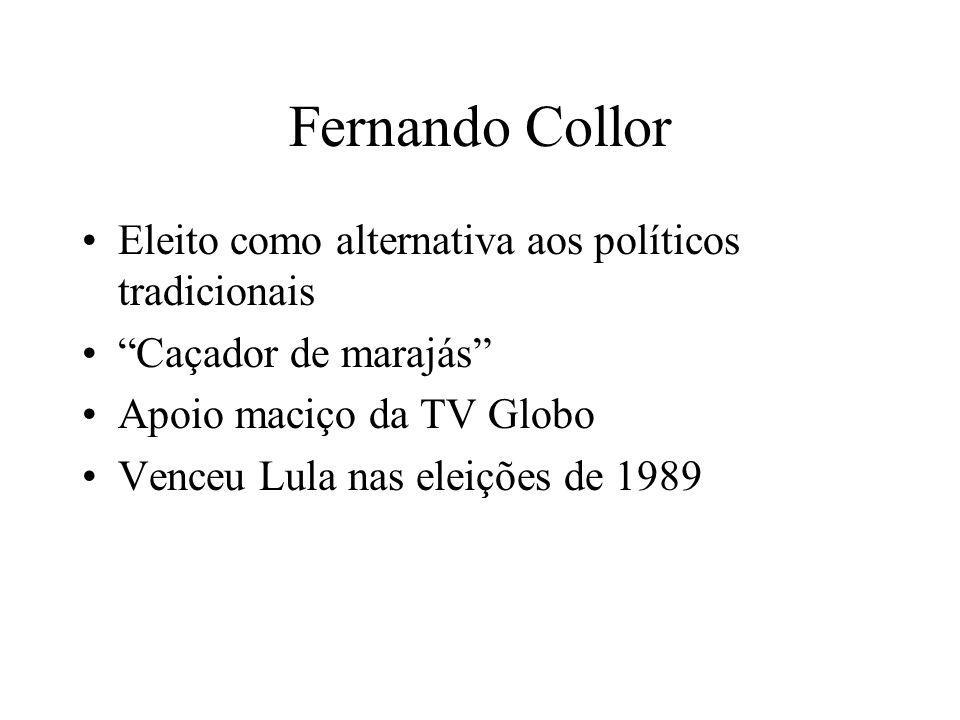 Fernando Collor Eleito como alternativa aos políticos tradicionais
