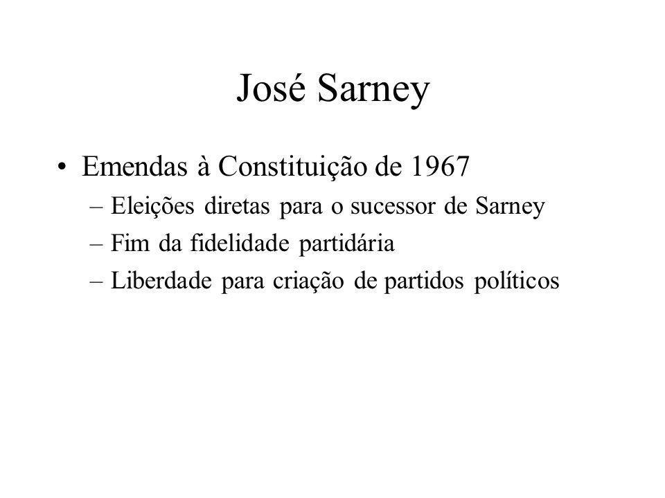 José Sarney Emendas à Constituição de 1967