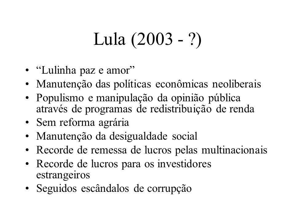 Lula (2003 - ) Lulinha paz e amor