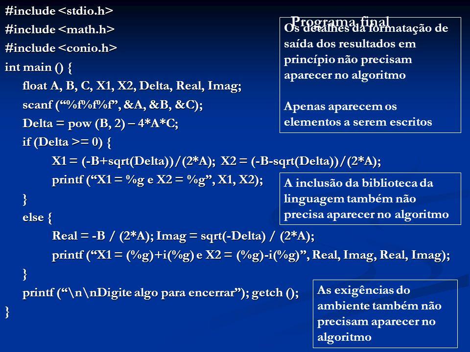 Programa final #include <stdio.h> #include <math.h>