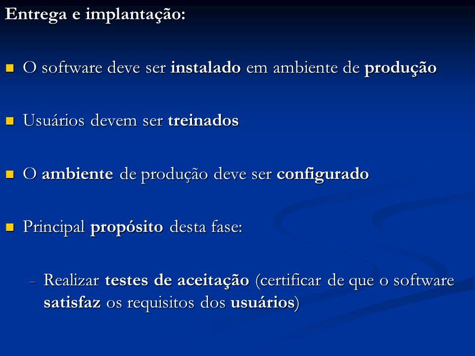 Entrega e implantação: