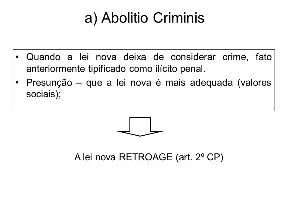 A lei nova RETROAGE (art. 2º CP)