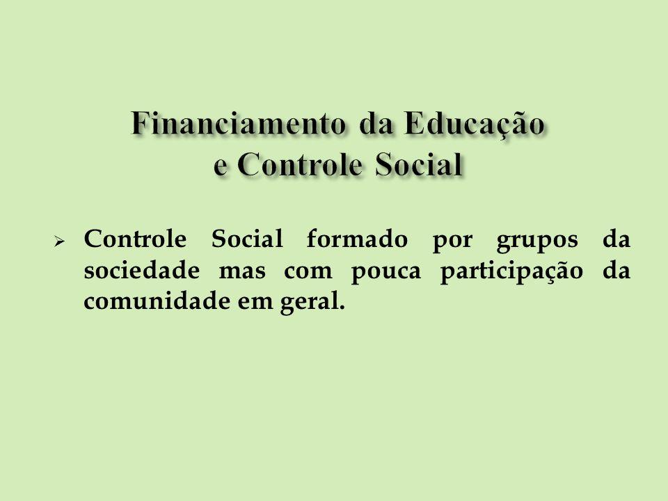 Financiamento da Educação e Controle Social