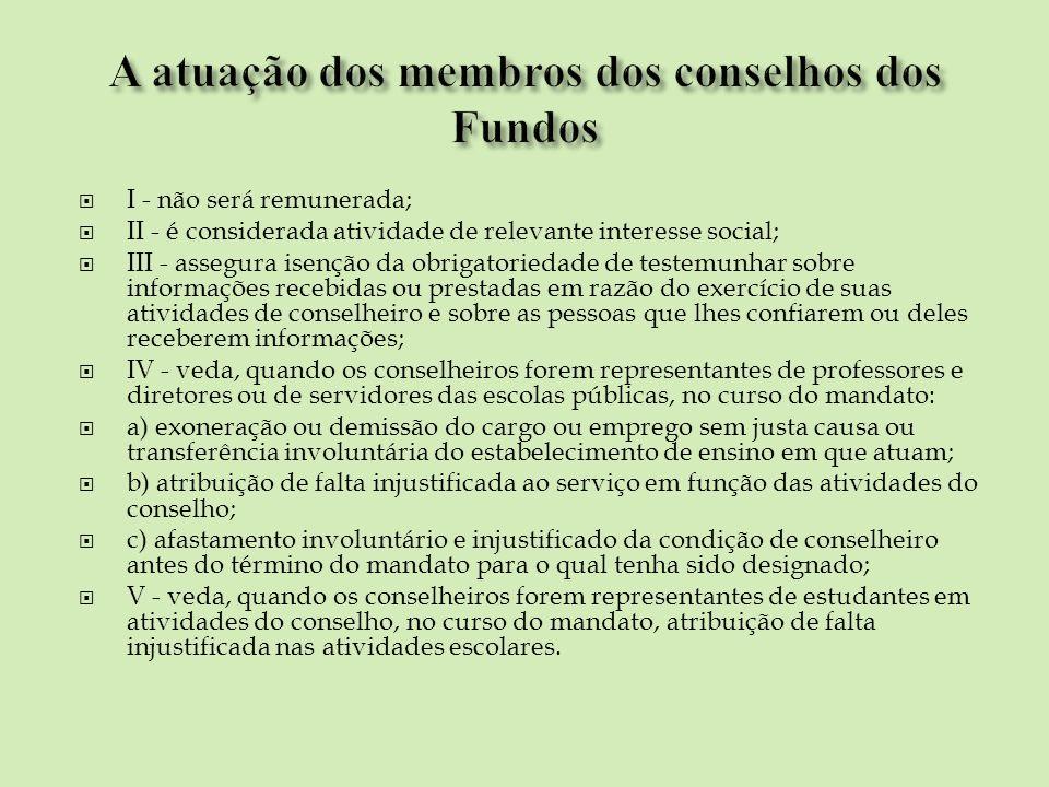 A atuação dos membros dos conselhos dos Fundos