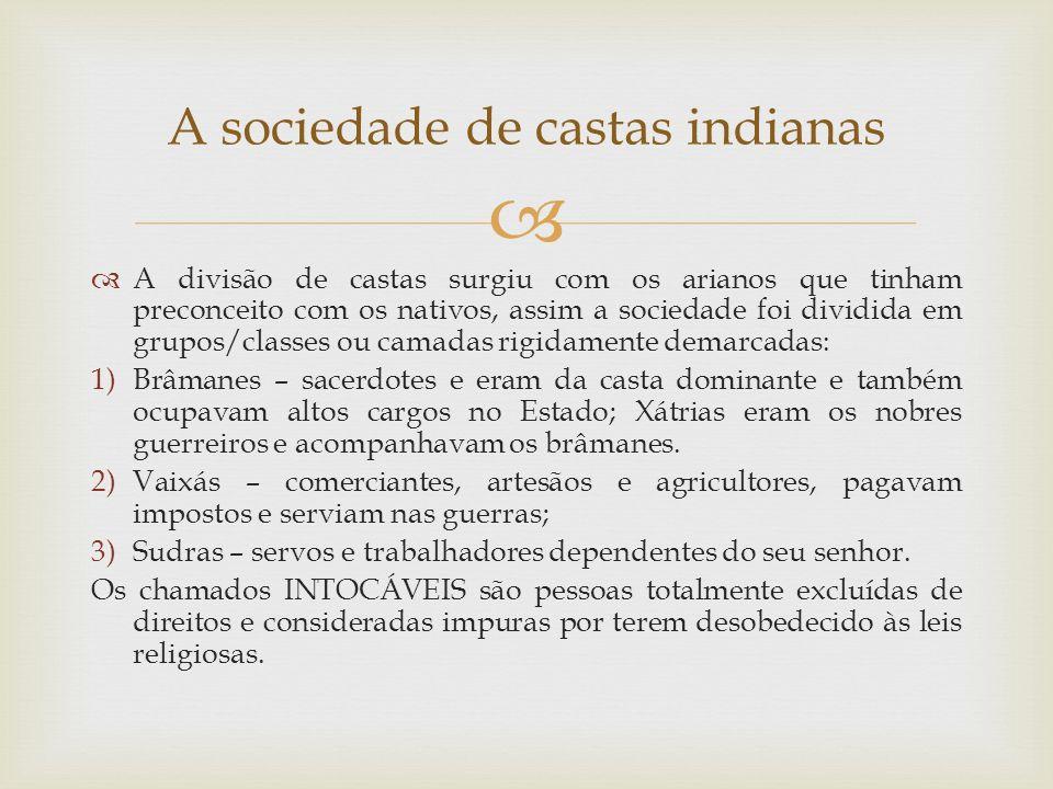 A sociedade de castas indianas