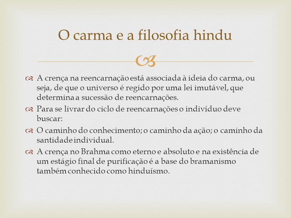 O carma e a filosofia hindu
