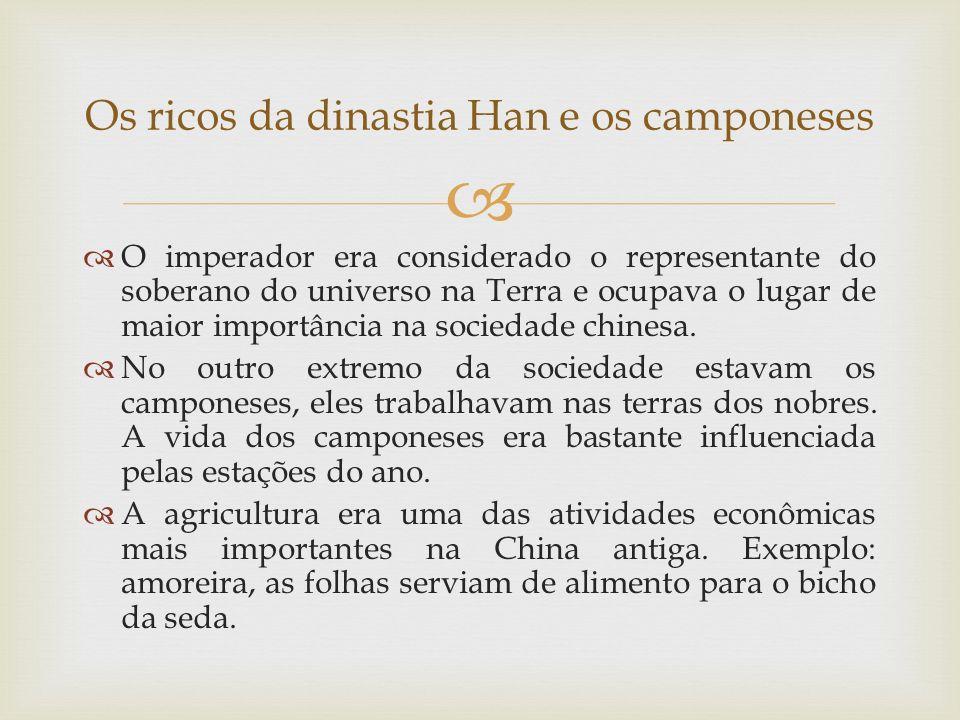 Os ricos da dinastia Han e os camponeses