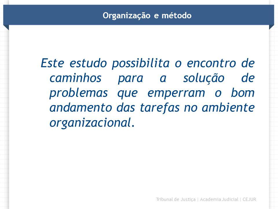 Organização e método