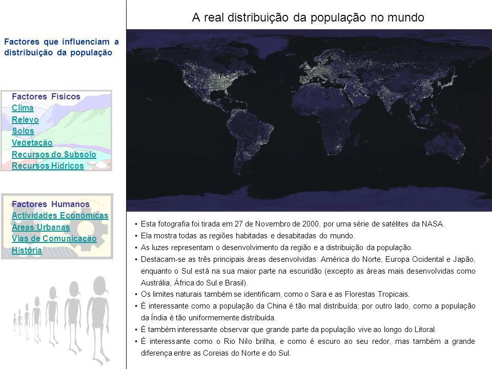 A real distribuição da população no mundo