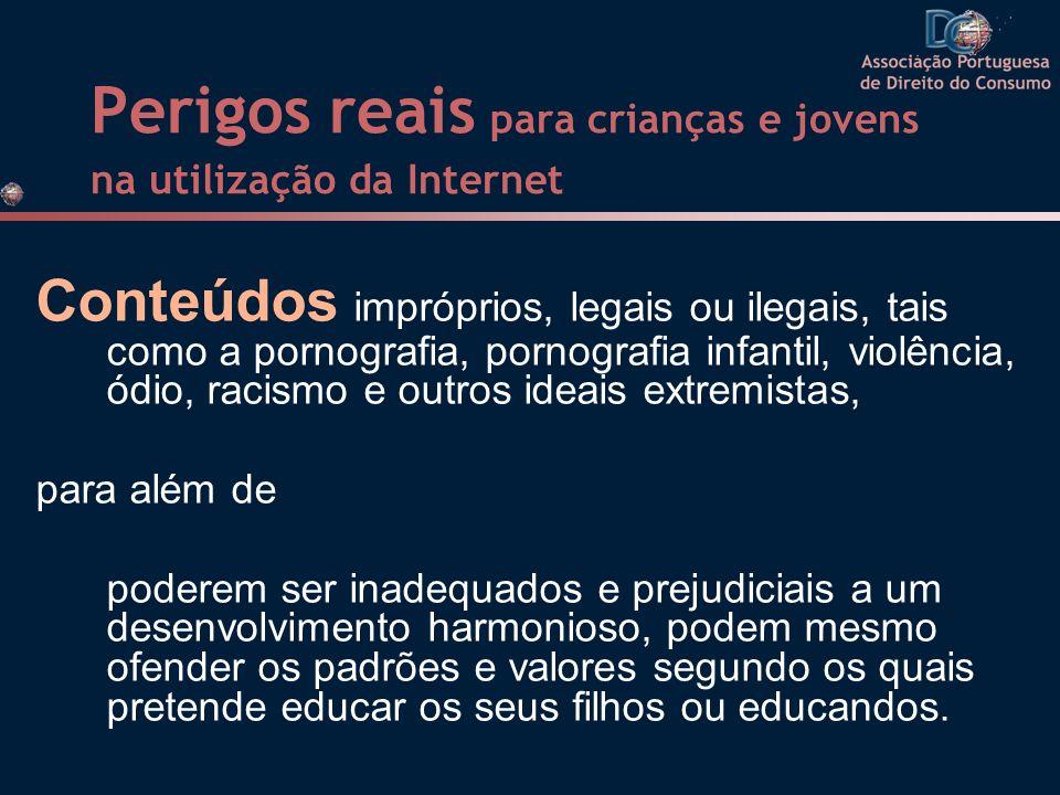 Perigos reais para crianças e jovens na utilização da Internet