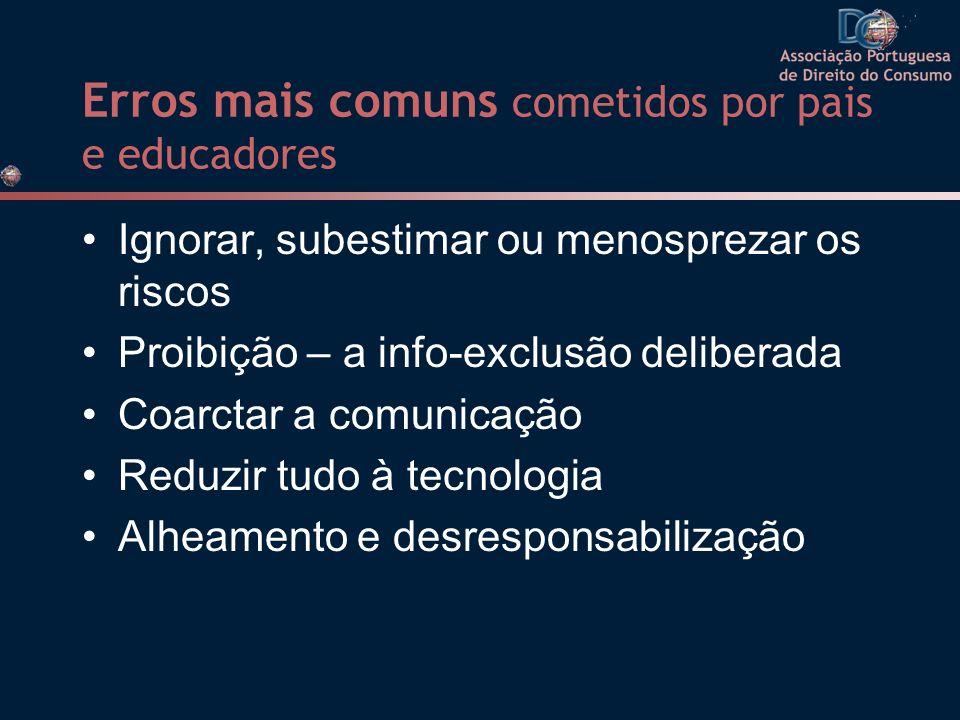 Erros mais comuns cometidos por pais e educadores