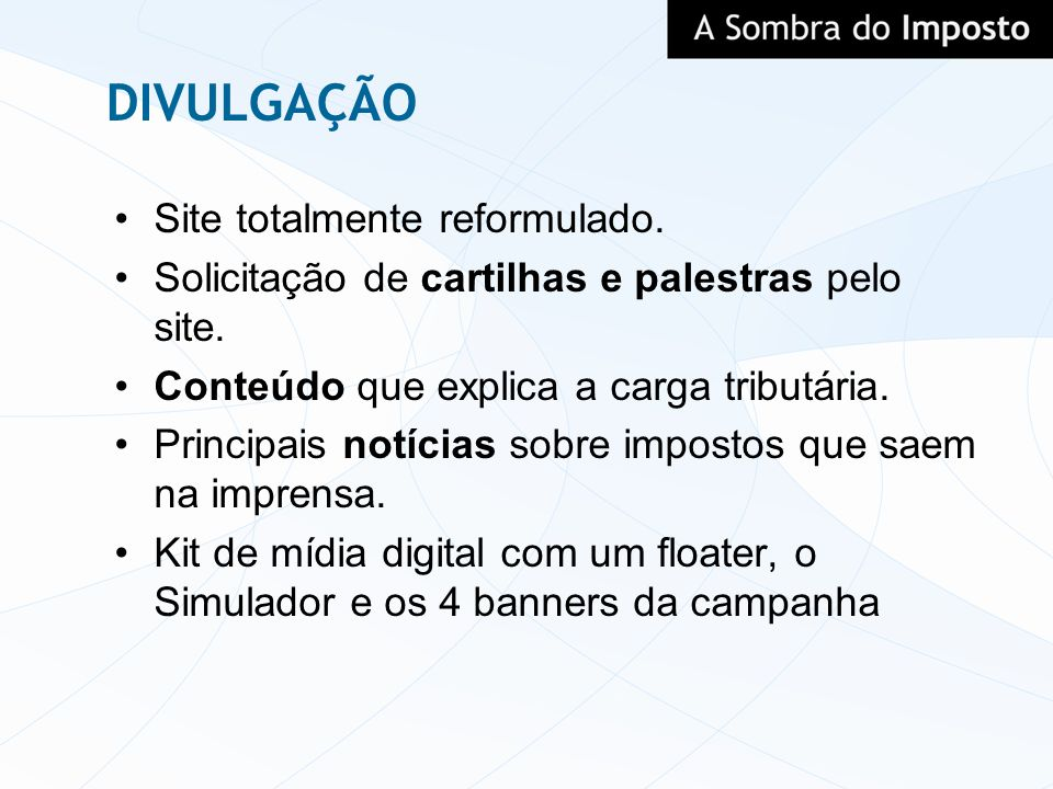 DIVULGAÇÃO Site totalmente reformulado.