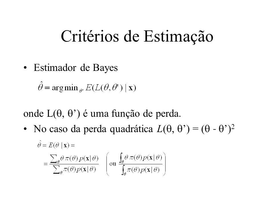 Critérios de Estimação