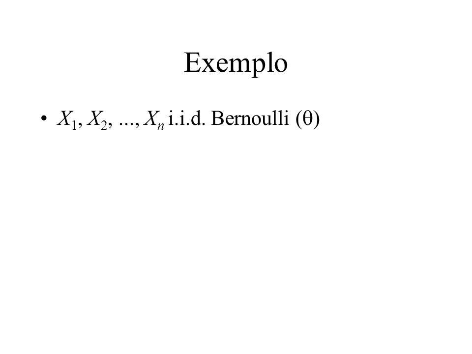 Exemplo X1, X2, ..., Xn i.i.d. Bernoulli (q)