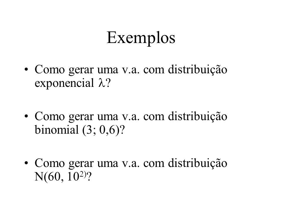 Exemplos Como gerar uma v.a. com distribuição exponencial l