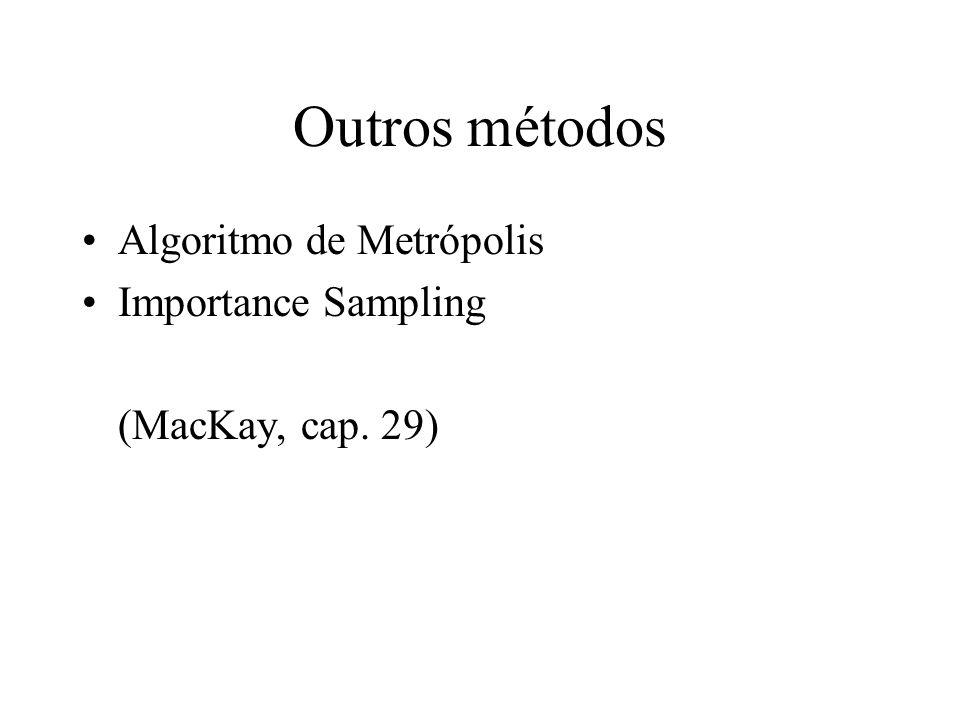 Outros métodos Algoritmo de Metrópolis Importance Sampling