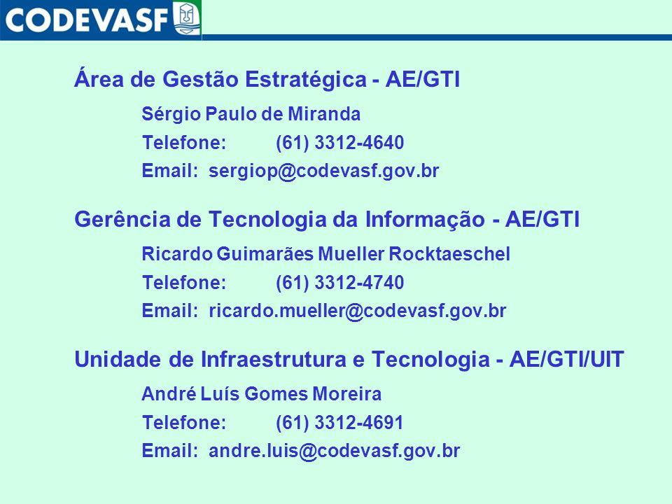 Área de Gestão Estratégica - AE/GTI Sérgio Paulo de Miranda