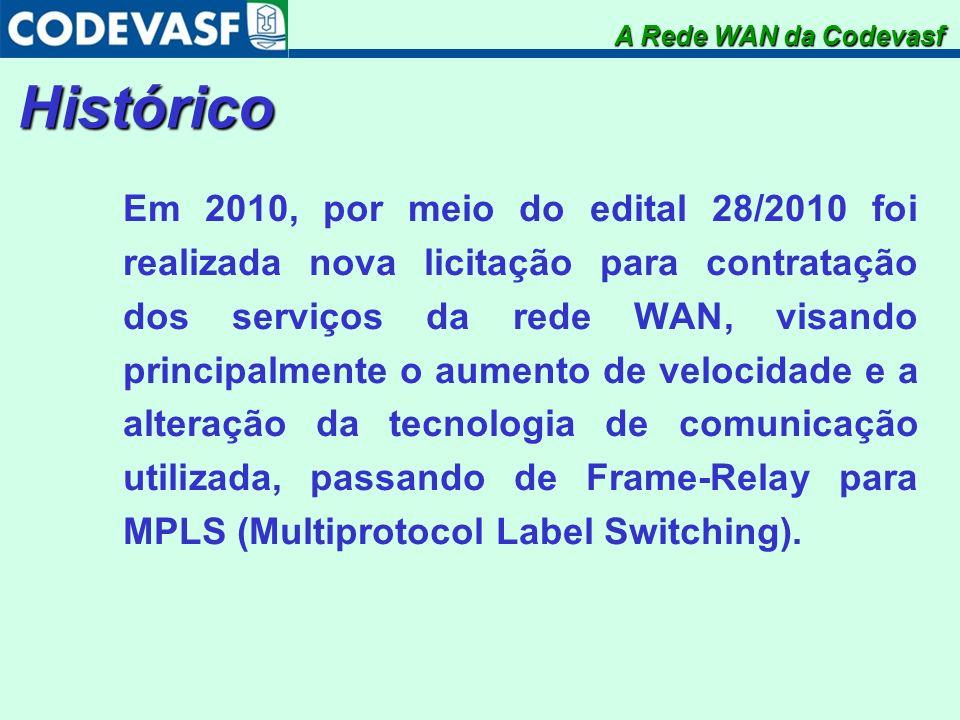 A Rede WAN da CodevasfHistórico.