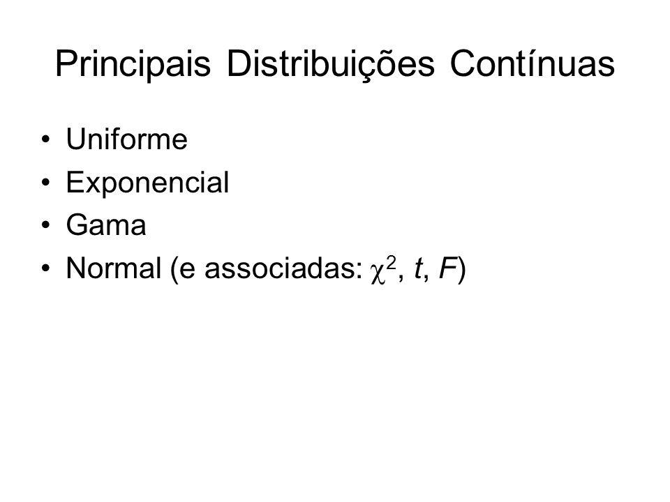 Principais Distribuições Contínuas
