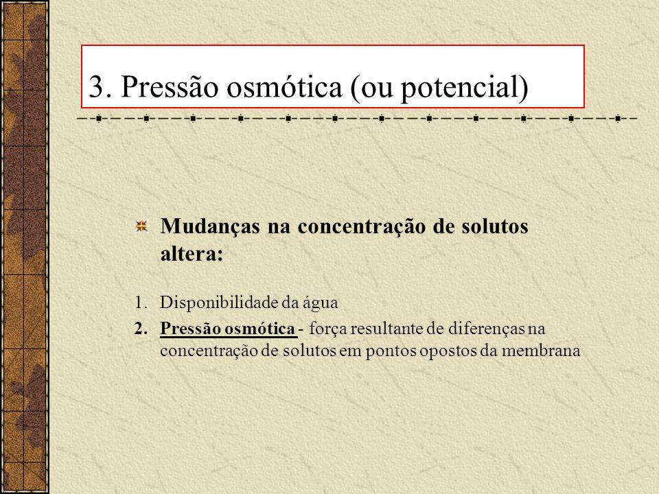 3. Pressão osmótica (ou potencial)