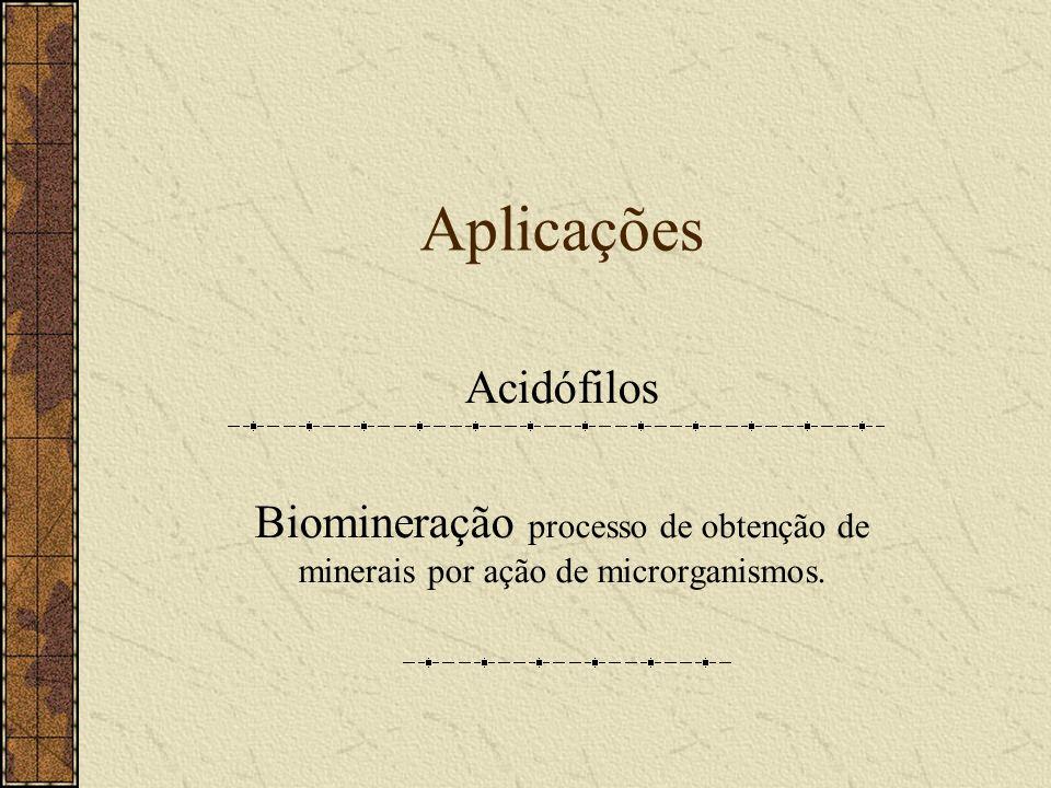 Aplicações Acidófilos