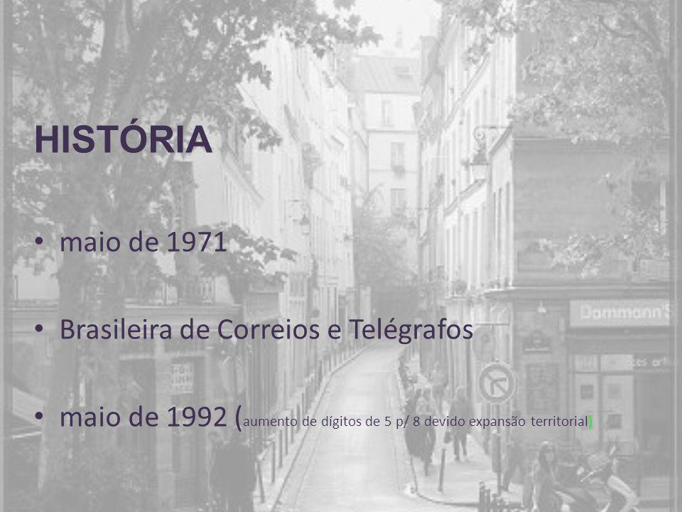 HISTÓRIA maio de 1971 Brasileira de Correios e Telégrafos