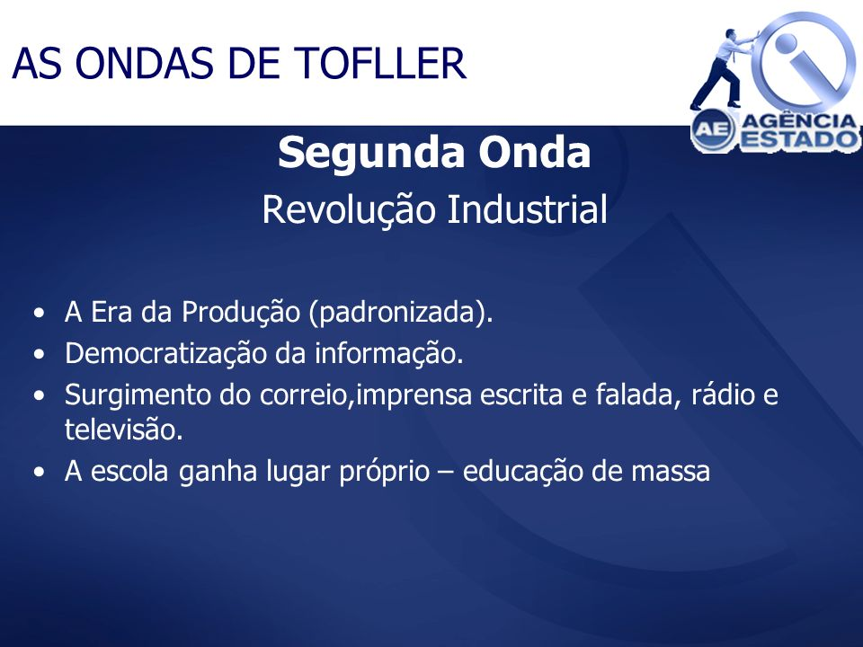 AS ONDAS DE TOFLLER Segunda Onda Revolução Industrial