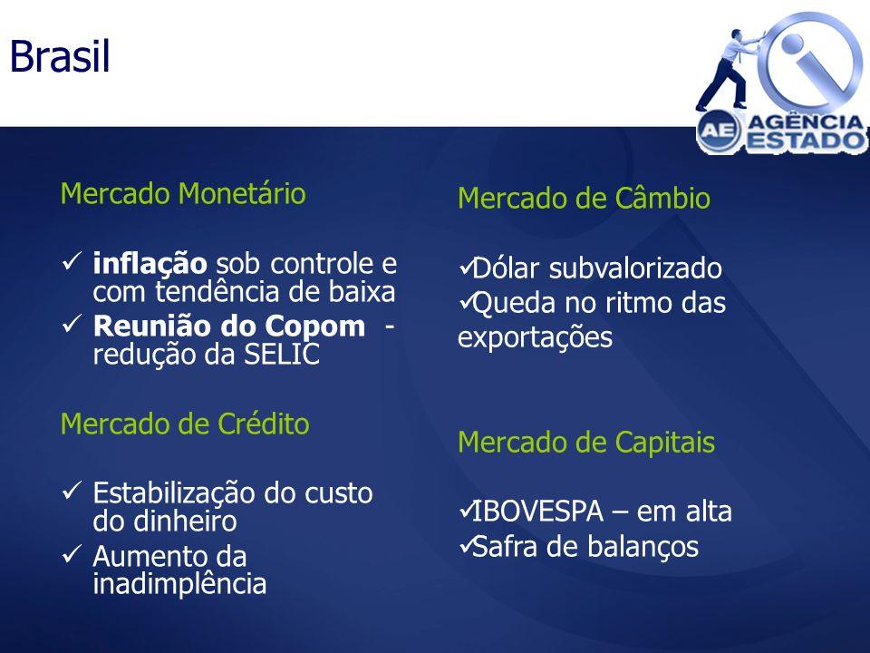 Brasil Mercado de Câmbio Mercado Monetário
