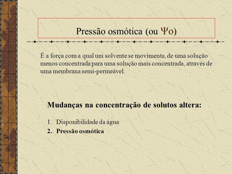 Pressão osmótica (ou Ψo)