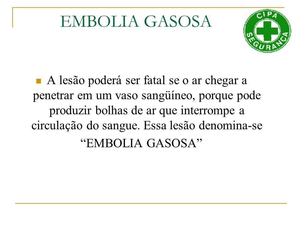 EMBOLIA GASOSA