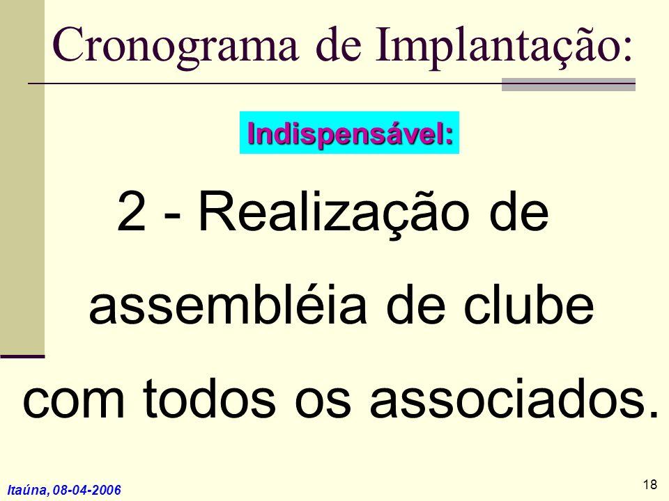 Cronograma de Implantação: