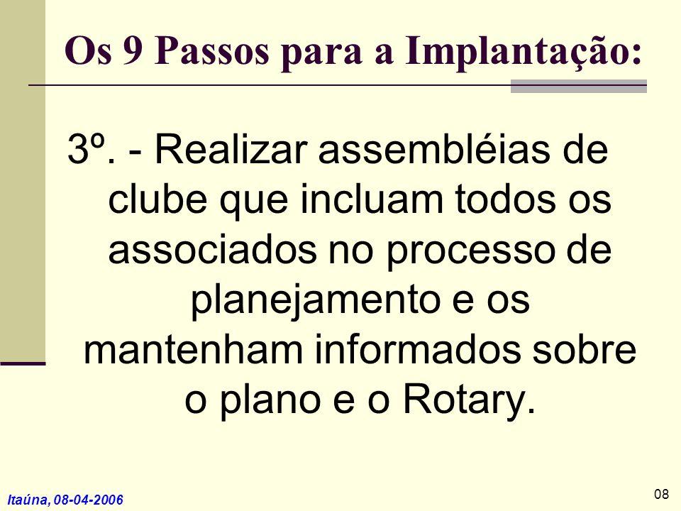 Os 9 Passos para a Implantação: