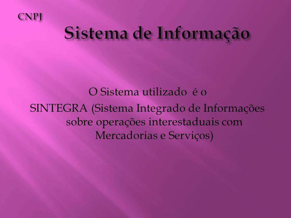CNPJ Sistema de Informação