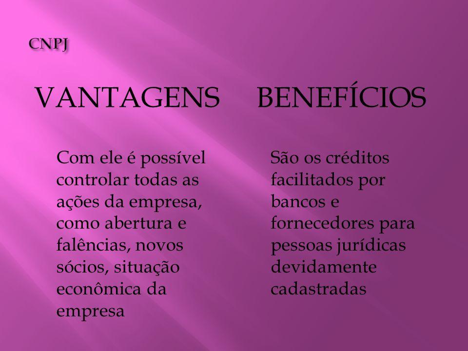 Vantagens Benefícios CNPJ