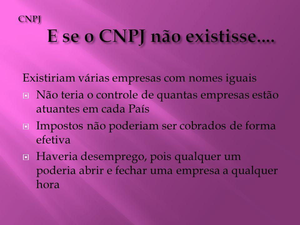 CNPJ E se o CNPJ não existisse....