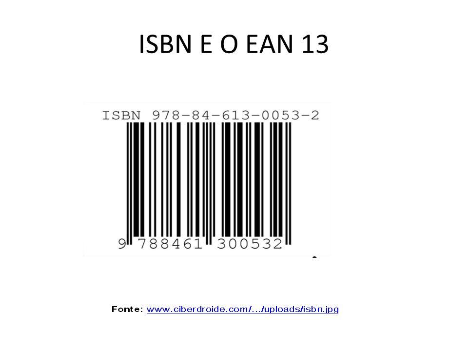 ISBN E O EAN 13