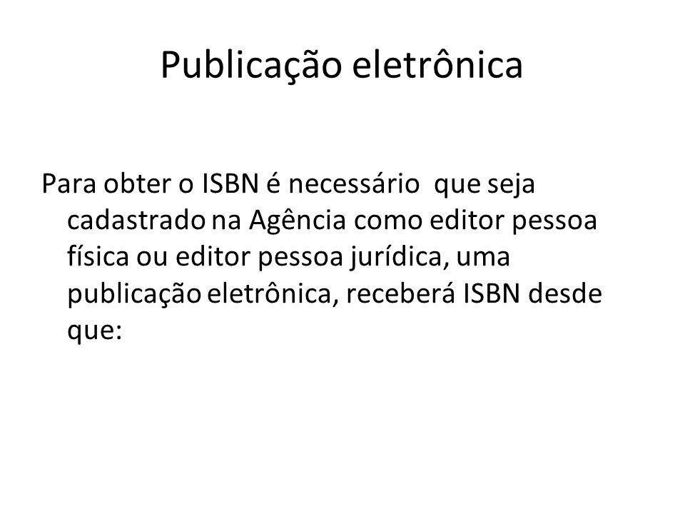 Publicação eletrônica