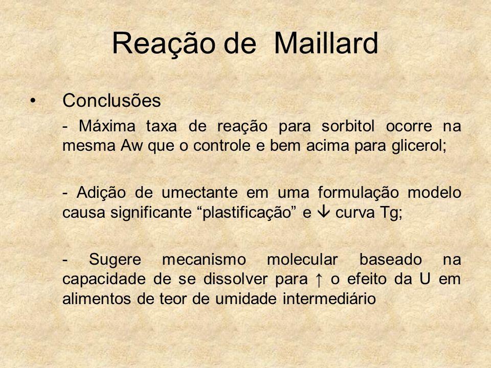 Reação de Maillard Conclusões