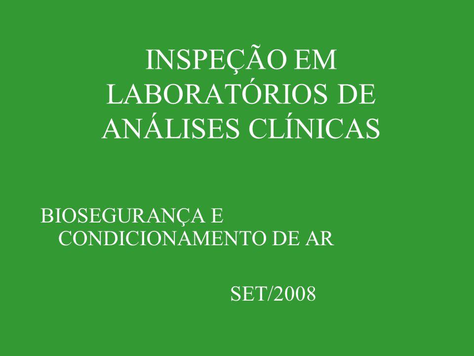 INSPEÇÃO EM LABORATÓRIOS DE ANÁLISES CLÍNICAS