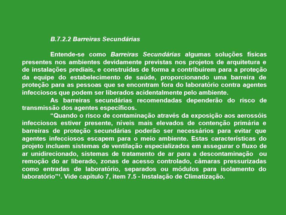 B.7.2.2 Barreiras Secundárias