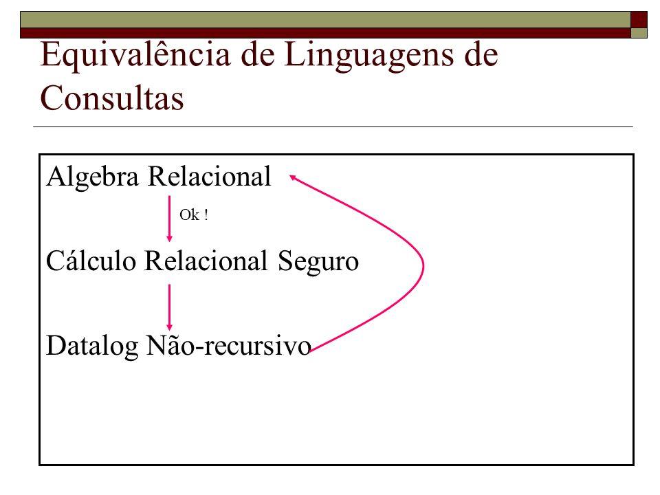 Equivalência de Linguagens de Consultas