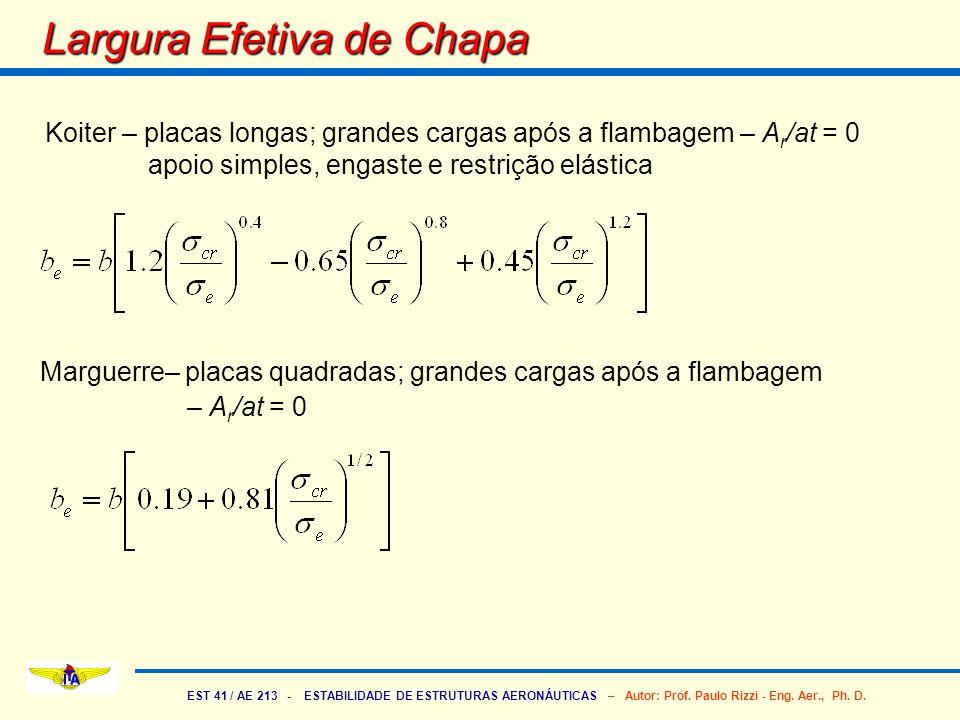 Largura Efetiva de Chapa