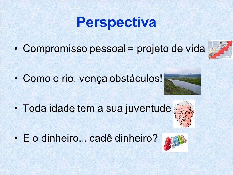 Perspectiva Compromisso pessoal = projeto de vida