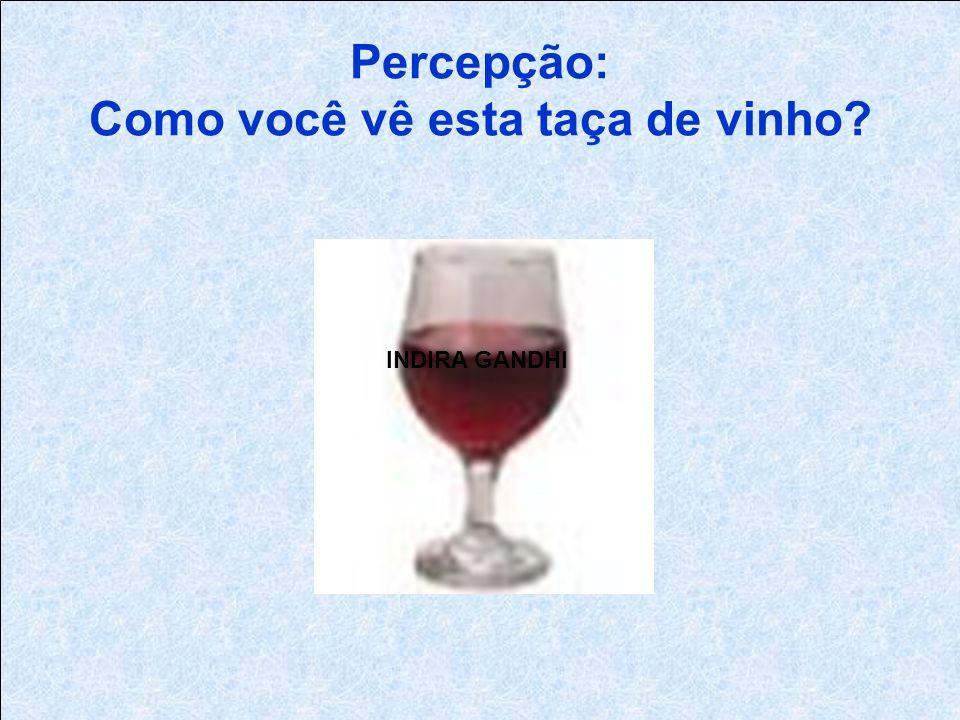 Percepção: Como você vê esta taça de vinho