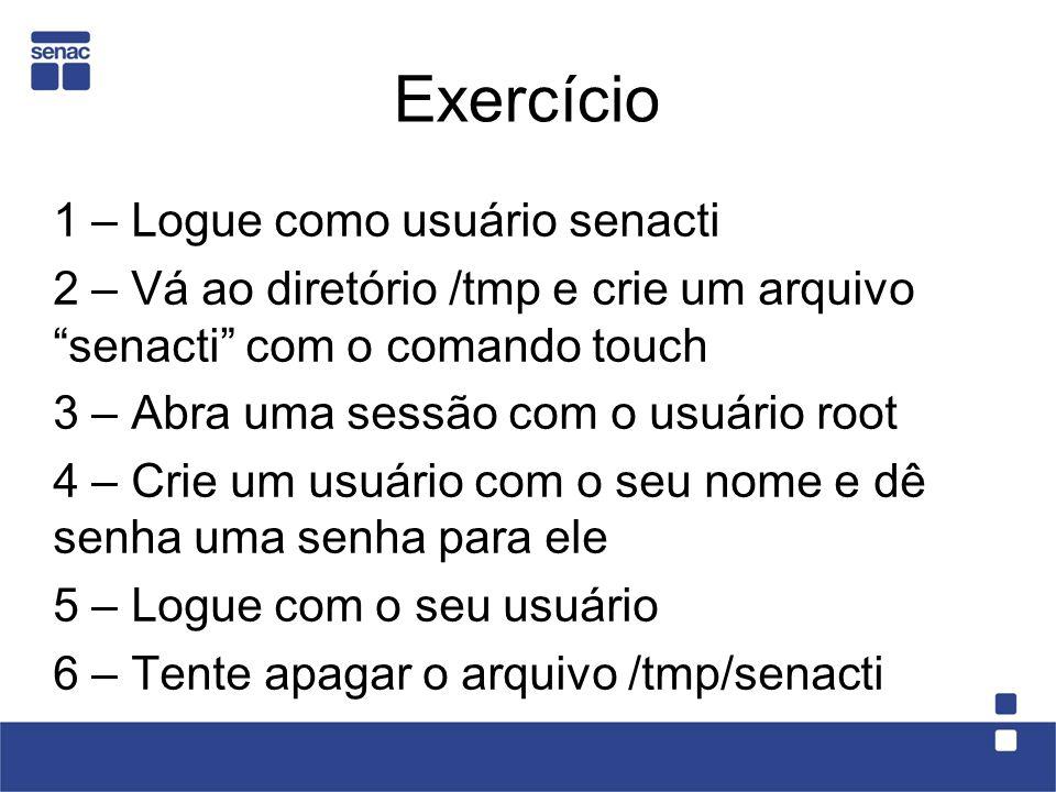 Exercício 1 – Logue como usuário senacti